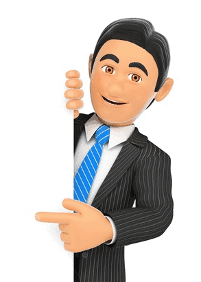 Man In Suit Pointing